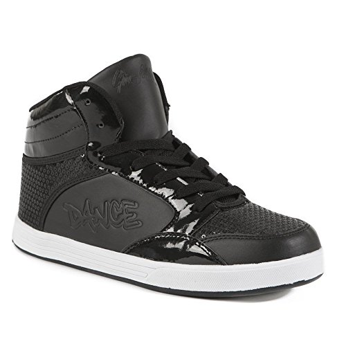 Gia-Mia Dancewear Women's Dance Sneaker, Black, 8 Medium US