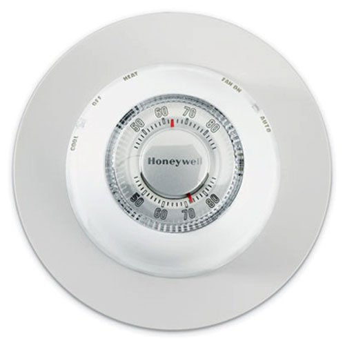 Honeywell CT87N1001/E1 The Round Non-Programmable Manual Thermostat Large White