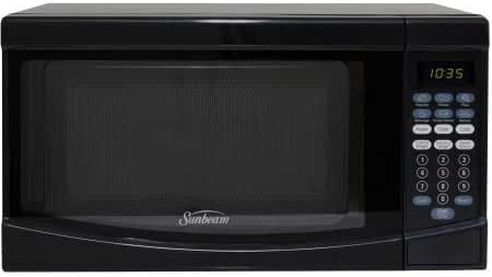Sunbeam 0.7 CuFt 700 Watt Microwave Oven SGKE702, Black - Digital Timer and Clock