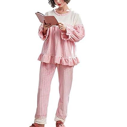 c20ec5e6982 Amazon.com: clothing Pregnant Women Pajamas, Women's Autumn and Winter  Thickening Plus Velvet Pregnancy Flannel Pajamas, Postpartum Breastfeeding  Pajamas ...