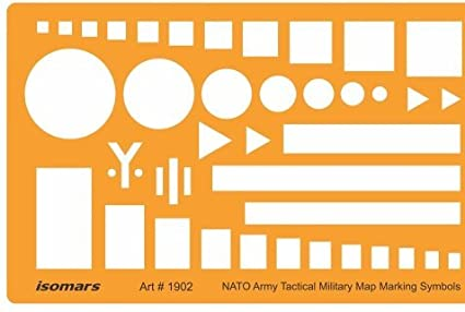 Isomars Nato Troops Movement Army Tactical Military Map Marking