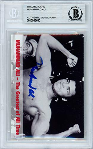 Edge Collectors Autographed Card (Muhammad Ali Autographed 1994 Collectors Edge Card Beckett BAS #10982650)