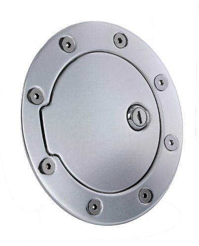 (All Sales 6090PL Polished Billet Aluminum Locking Fuel Door)