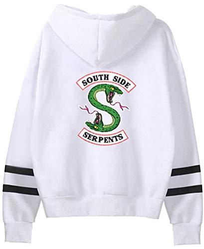 Emilyle Riverdale wit dameshoodie hoodies Serpents Southside gestreepte 81wqrA8p