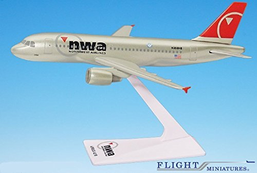 Northwest (03-09) A319-100 Airplane Miniature Model Plastic Snap-Fit 1:200 Part#AAB-31900H-006