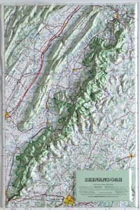 Hubbard Scientific Raised Relief Map 405 Shenandoah National Park