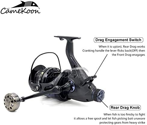 For Live Liner Saltwater Surf Catfish Fishing CAMEKOON Baitfeeder Spinning Reel