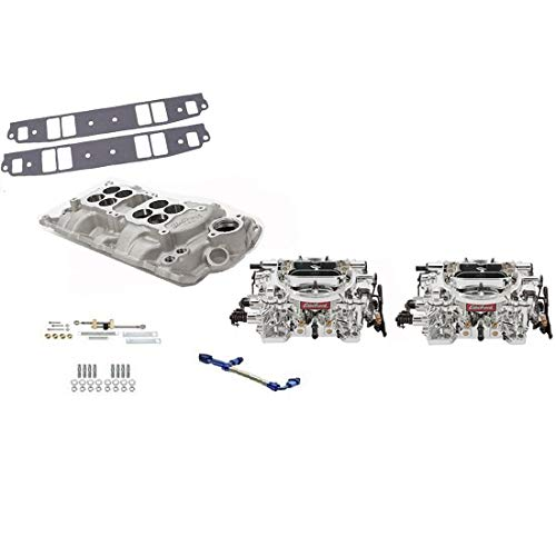 Edelbrock Small Block Fits Chevy Dual Quad Intake/Carburetor Kit