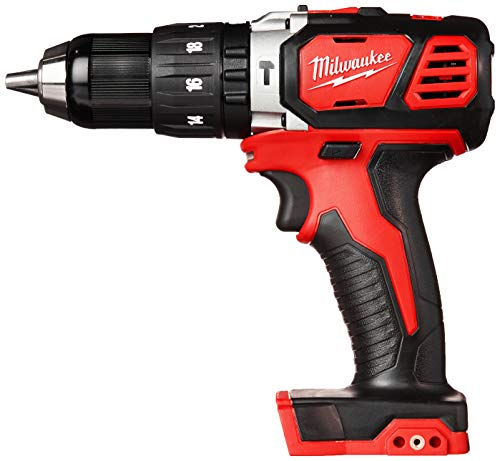 Milwaukee 2607-20 1 2 Inch 1,800 RPM 18V Lithium Ion Cordless Compact Hammer Drill Driver with Textured Grip, All Metal Gear Case, and LED Lighting