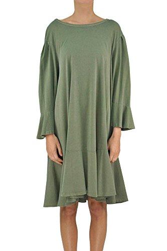 Dries Van Noten Robe De Coton Vert Mcglvs003038e Femmes