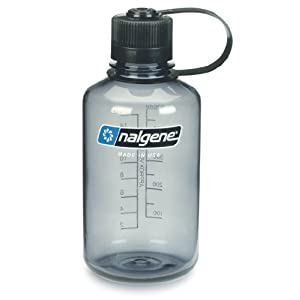 Nalgene Tritan 1-Quart Narrow Mouth BPA-Free Water Bottle, Gray