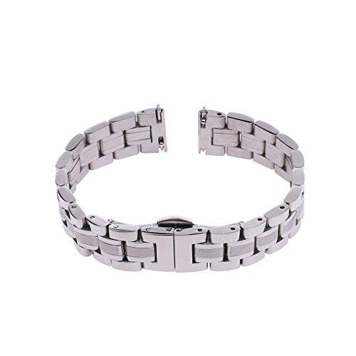 Xuexy 16mm Motorola Moto 360 42mm 2nd Gen Quick Release Pins Watch Band Stainless Steel Butterfly Buckle Strap Replacement Bracelet (Moto 360 2nd Gen 42mm Women's 2015),Silver