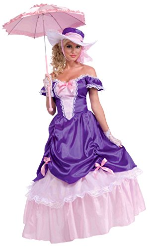 Forum Novelties Women's Blossom Southern Belle Costume, Purple/Pink, One Size -