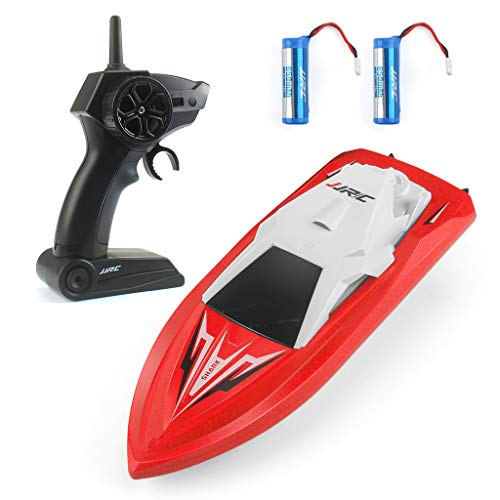 RC Boats for Pools and Lakes Remote Control Boats for Kids Adults 2.4Ghz Radio Controlled Boat Self Righting Rechargeable 10km/h High Speed Race Boat Toys Gifts for Boys Girls S5-R. (Red)