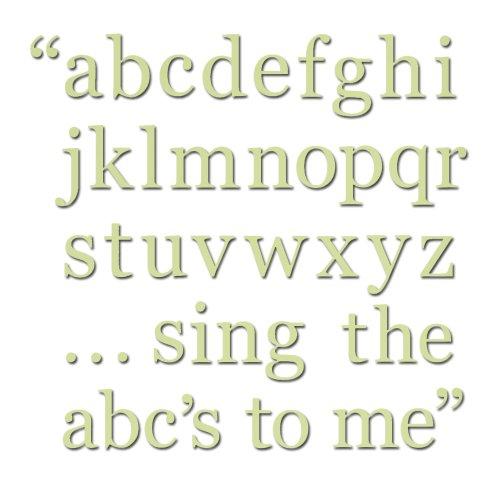 Pea Pod Green Alphabet Set Decals