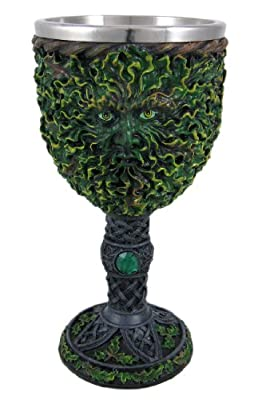 Pagan Green Man Wicca Goblet Chalice
