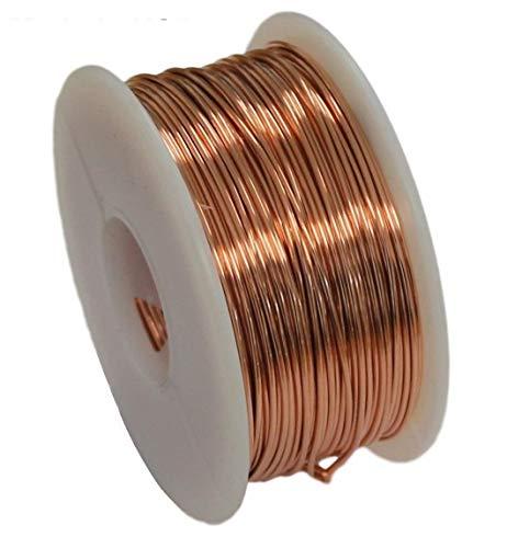 Solid Bare Copper Round Wire 5 Oz Spool Dead Soft 12 To 30 Ga (24 Ga/270 Ft)
