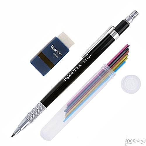 Rosetta Da Vinci 2 mm Mechanical Pencil Set, Rainbow Leads &