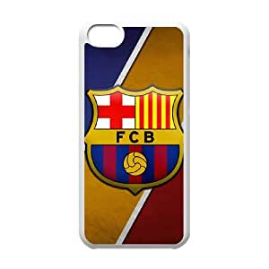 iPhone 5c Cell Phone Case White Barcelona Football Jefb