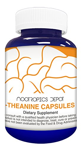 L-Theanine Capsules 200mg (180 Count) | Promotes Relaxation | Supports Healthy Stress Levels + Sleep Cycles | Promotes Cognitive Function + Focus | Amino Acid Supplement