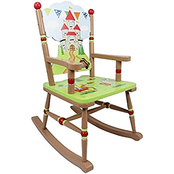 Fantasy Fields   Knights U0026 Dragon Thematic Kids Wooden Rocking Chair |  Imagination Inspiring Hand Crafted