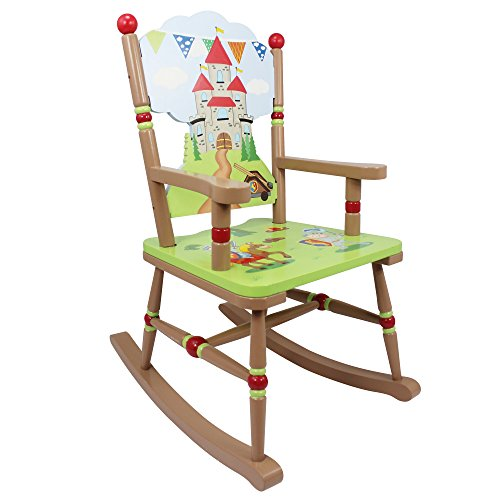 Fantasy Fields - Knights & Dragon Thematic Kids Wooden Rocking Chair | Imagination Inspiring Hand Crafted & Hand Painted Details | Non-Toxic, Lead Free Water-based (Hand Painted Dragon)