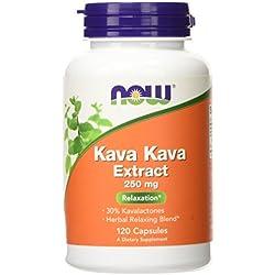 NOW Kava Kava 250 mg,120 Veg Capsules