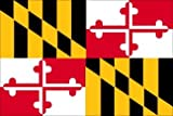 "3×5 FT MD Maryland Flag ""Pole Sleeve"" Pole Hem Style Nylon US Made For Sale"