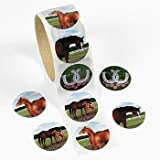 "Fun Express - Horse Stickers, 1 Roll, 1 1/2"", Assorted Designs (1-Pack of 100)"