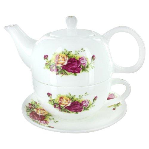 Summertime Roses Bone China Tea for One