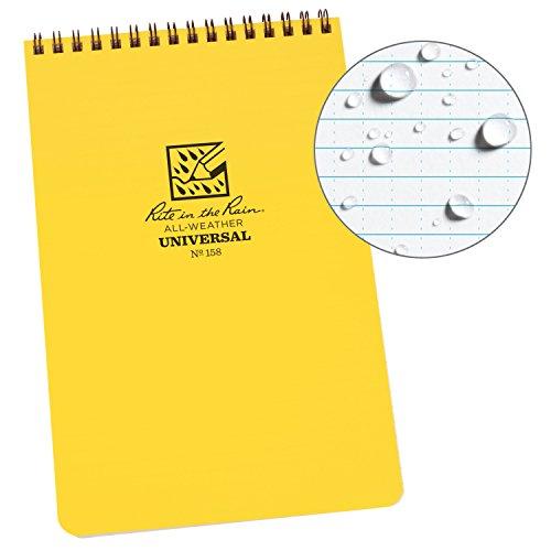 Rite in the Rain Weatherproof Top-Spiral Notebook, 5 1/2