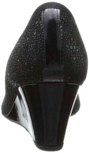 Franse Zool Fs / Ny Dames Jettison Patent Pijlstaartrog Wig Pomp Zwart