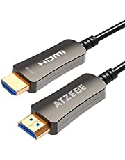 ATZEBE HDMI Câble 2.0 en Fibre Optique Supporte 4K @ 60Hz, Haute Vitesse 18Gbps, Compatible HDTV, TV Box, Xbox One X, Home Theater, PS4, PS3, etc.