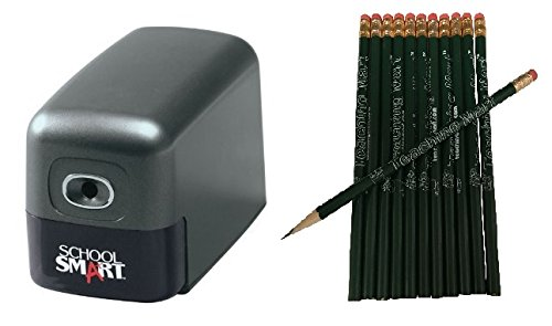 Starter Sharpener - Heavy Duty Electric Pencil Sharpener with 12-Pack TeachingMart Pencils