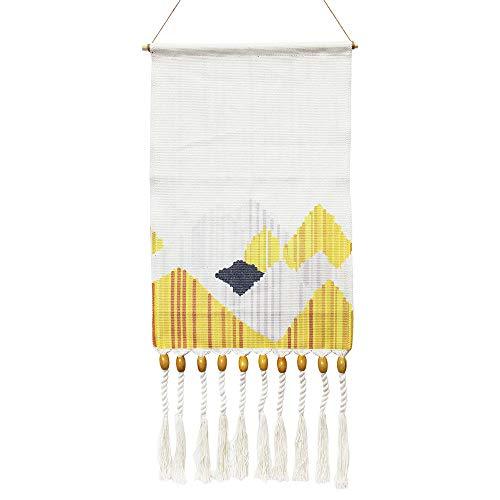 KLOLKUTTA Macrame Wall Hanging Woven, Hand Woven Tapestry Pendant Macrame Tapestry Aztec Boho Chic Bohemian Home Geometric Wall Art Decor Beautiful Apartment Dorm Room Decoration