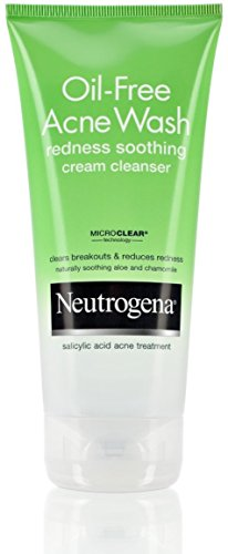 Neutrogena Oil-Free Acne Wash Redness Soothing Cream Clea...