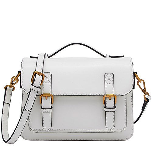 Long Purse Crossbody White Women Leather BOYATU Daily for Adjustable with Strap Shoulder Bag Bag RTvHfw