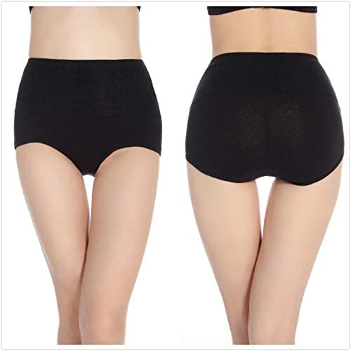 Cotton Underwear No Muffin Top Shapewear Brief Panties High Waist Tummy Control Panties for Women