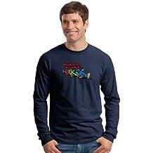 Keep On Truckin' Apparel, Robert Crumb's Keep On Truckin Guys, Men's Long Sleeve Cotton T-Shirt