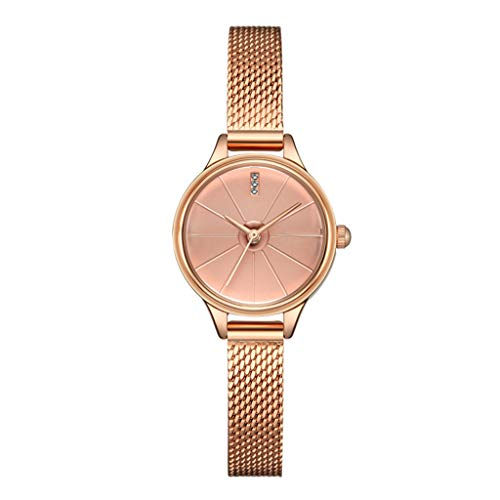 Dial Round Shining (ADAHX Quartz Women's Watch, Stainless Steel Waterproof Simple Round Quartz Watch, Women's Watch for Birthday, Anniversary, Gold)