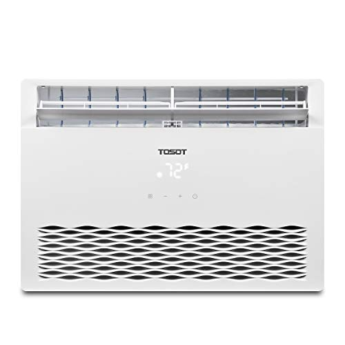 TOSOT 8,000 BTU Window Air Conditioner - 2019 Model, Energy Star, Modern Design, and Temperature-Sensing Remote - Window AC for Bedroom, Living Room, and attics up to 350 sq. ft. (Air Conditioner Window Quiet)