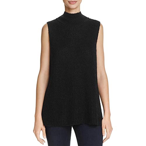 French Connection Womens Mathilde Wool Mock Turtleneck Sweater Black S