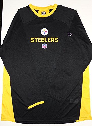 (Reebok Pittsburgh Steelers Long Sleeve Battle Crew Tee Shirt (XL))