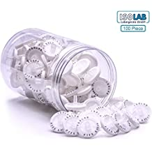 ISOLAB USA - Syringe Filters PTFE Membrane 25mm Diameter 0.45um Pore Size Non Sterile Pack of 100. Water, Chemicals and Beverage Filtration