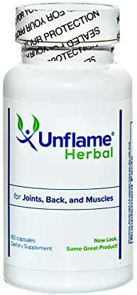 UnFlame: Excellent Herbal Formula for Joints, Muscles and Back - 60 capsules