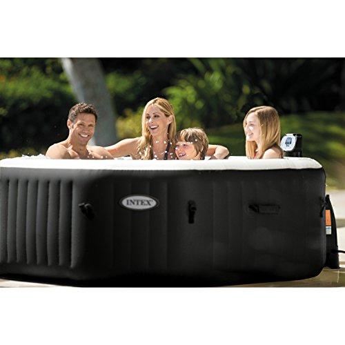 intex purespa jet bubble deluxe portable hot tub octagon 79 x 79 x 28 onyx black buy. Black Bedroom Furniture Sets. Home Design Ideas