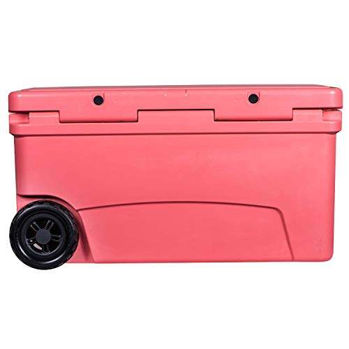 Driftsun 70-Quart Wheeled Ice Chest, Heavy Duty, High Performance Roto-Molded Commercial Grade Insulated Rolling Cooler