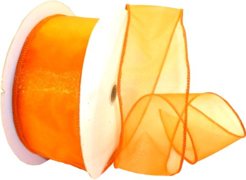 Reliant Ribbon Sheer Lovely We Ribbon, 2.5-Inch by 50-Yard, Orange