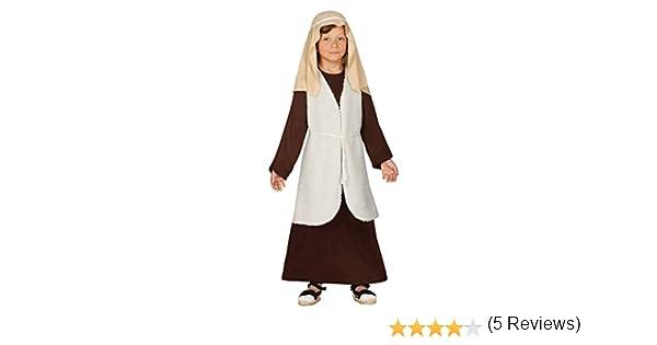 Guirca- Disfraz infantil de Hebreo pastor, Color marrón, 5-6 años ...