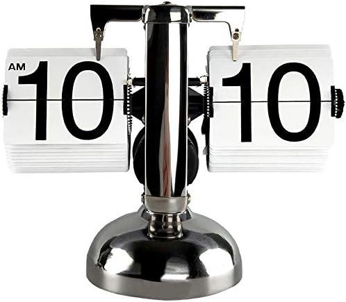 素晴らしいターンクロックメタルレトロなクロックスタディリビングルームのスタディクリエイティブ時計北欧芸術的なバランスの取れた時計 - ホワイトブラック 作りがいい